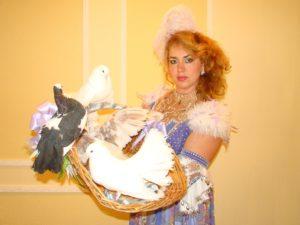 Шоу голубей на свадьбу в Москве