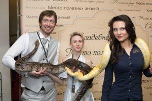 Змея на фотосессию