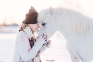 Аренда белого пони